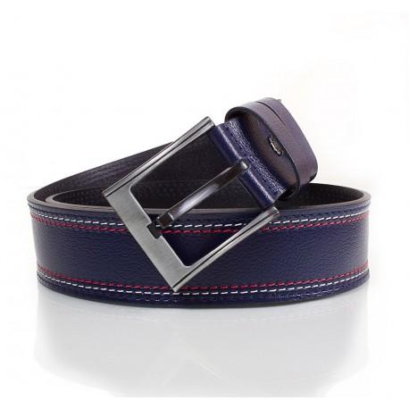 Ремень кожаный  Y.S.K. джинсы 5 см 912 -9 синий