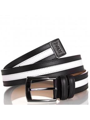 Ремень кожаный Y.S.K. 4001-13 черно-белый