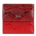 Женское портмоне кожа Desisan 067-500 красный узор лак