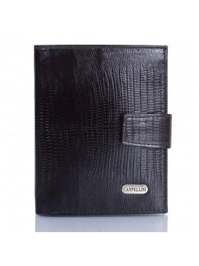 Портмоне кожаное CANPEL 1102-8 черный лазер