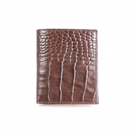 Портмоне кожа GRASS 409-30 коричневый кроко