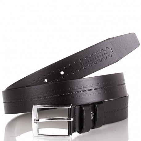 Ремень кожаный Y.S.K. классический 3,5 см 3035-1 черный