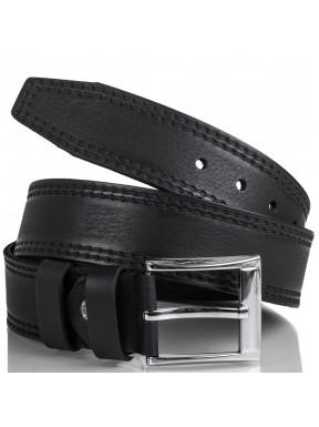 Ремень кожаный  Y.S.K. джинсы 5 см 3000-1  черный