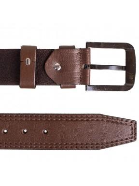 Ремень кожаный  Y.S.K. джинсы 5 см 3000 -2 корич