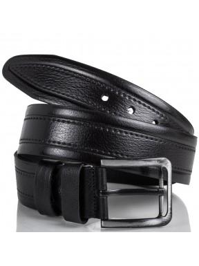 Ремень кожаный  Y.S.K. джинсы 5 см 3018-1  черный