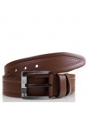 Ремень кожаный GRASS джинсовый 5 см 3018-02 коричневый