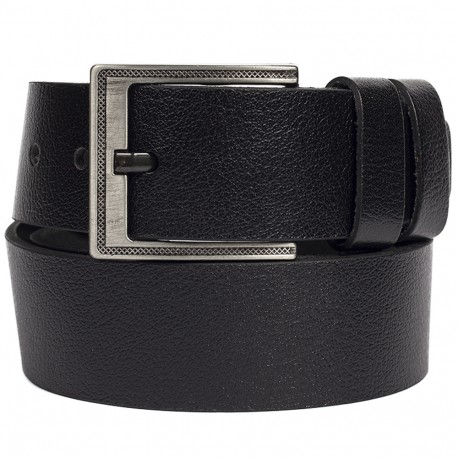 Ремень кожаный  Y.S.K. джинсы 5 см 2090 -1 черный