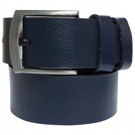 Ремень кожаный  Y.S.K. джинсы 5 см 2090-9 синий