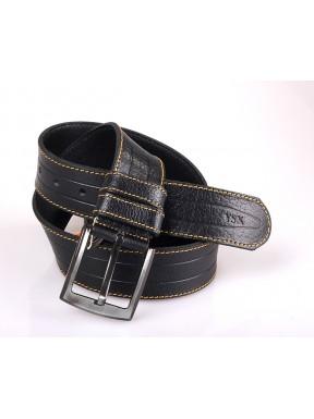 Ремень кожаный  Y.S.K. джинсы 5 см 2010-1 черный