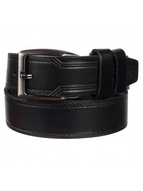 Ремень кожаный  Y.S.K. джинсы 4см 4-3025-1 черный