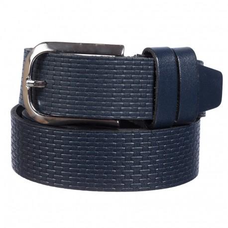 Ремень кожаный  Y.S.K. джинсы 4см 4-3042-9  синий