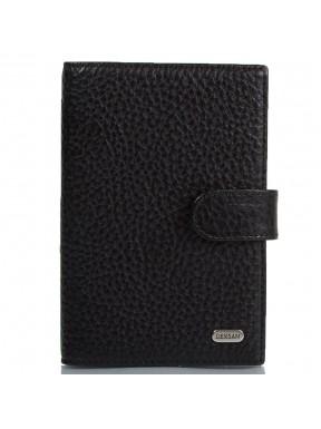 Обложка авто+паспорт кожа Desisan 102-01 черный мелкий флотар