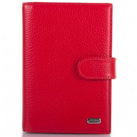Обложка авто+паспорт  кожа Desisan 102-4 красный флотар