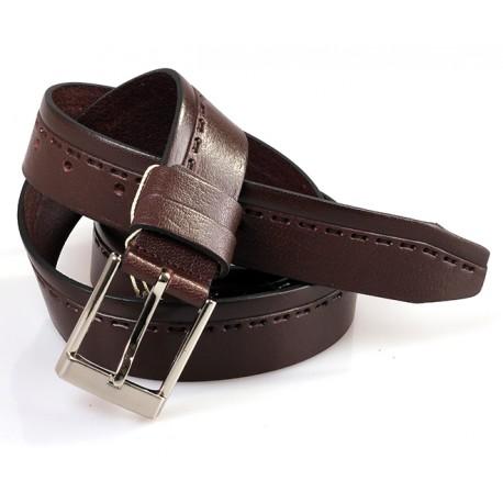 Ремень кожаный  Y.S.K. классика 3,5 см 3008 -1 черн