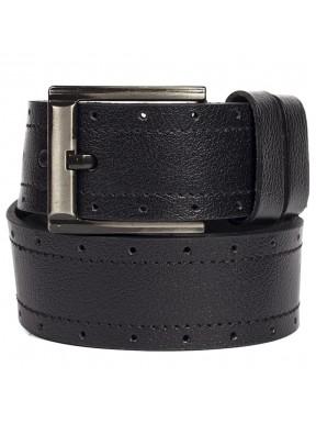 Ремень кожаный GRASS джинсовый 5 см 725-001 черный