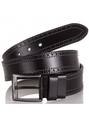 Ремень кожаный Y.S.K. джинсовый 5 см 726 -1 черный