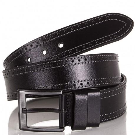Ремень кожаный  Y.S.K. джинсы 5 см 726 -1 черный