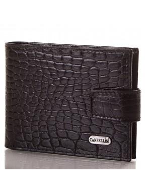 Портмоне кожаное CANPEL 1408-2 черный кроко