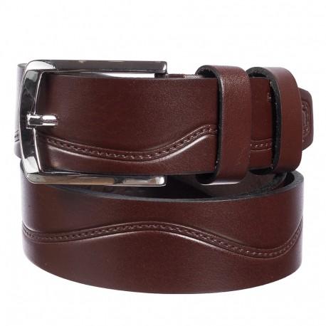 Ремень кожаный  Y.S.K. джинсы 4см 4-2084-2 корич
