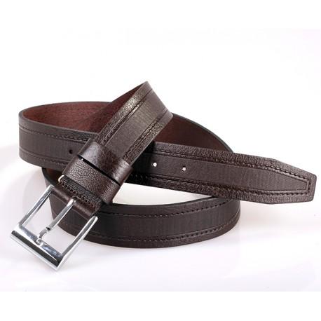 Ремень кожаный  Y.S.K. джинсы 4см 4-2032 -2  корич