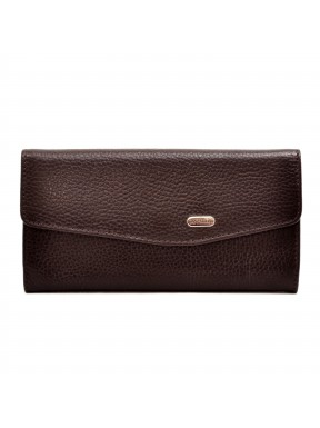 Женское портмоне из натуральной кожи CANPEL 2029-142 красный кроко лак