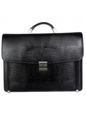 Портфель кожаный Desisan 206-143 черный лазер