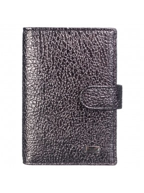 Обложка авто+паспорт кожа Desisan 102-669 серебро