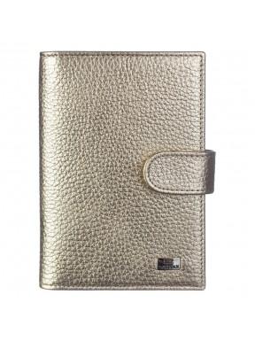 Обложка авто+паспорт кожа Desisan 102-674 золото