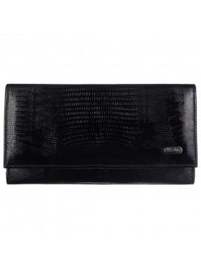 Кошелек женcкий кожа CANPEL 157-8 черный лазер