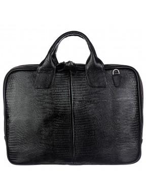 Портфель кожаный Desisan 052-143 черный лазер