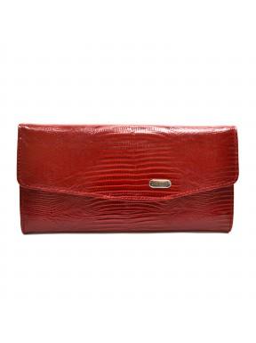 Женское портмоне из натуральной кожи CANPEL 2029-15 красный лазер