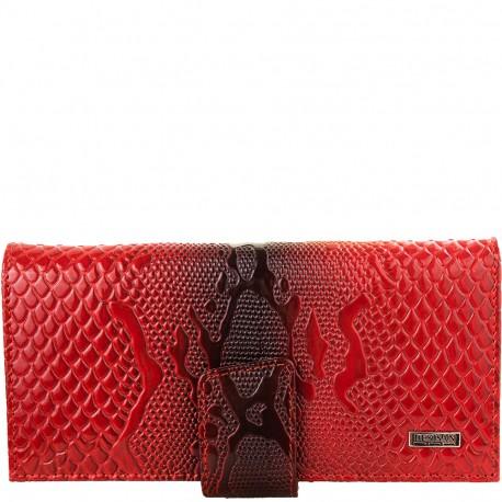 Кошелек женский кожа Desisan 906-500 красный узор