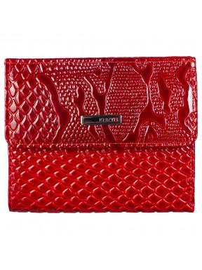 Кошелек женский кожаный KARYA 1065-019 красный узор