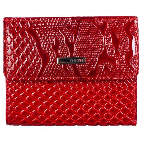 Кошелек женский кожа KARYA 1065-019 красный узор