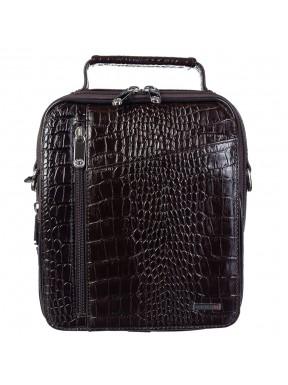 Барсетка мягкая кожа KARYA 0339-57 коричневый кроко