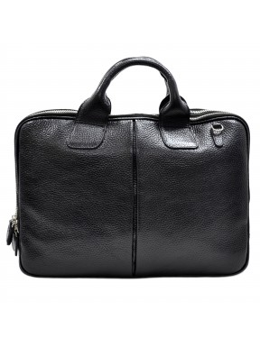 Портфель кожаный Desisan 052-01 черный мелкий флотар
