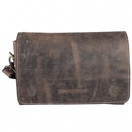 Барсетка кистевая кожа Tony Bellucci 5040-06 коричневый нубук