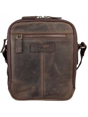 Барсетка мягкая Tony Bellucci 5153-06 коричневый нубук