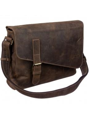 Сумка мягкая кожа Tony Bellucci 5165-06 коричневый нубук