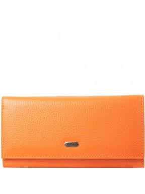 Кошелек женcкий кожаный CANPEL 2035-302 оранжевый флотар