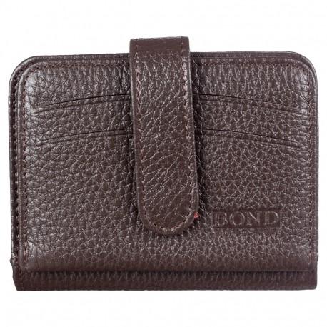 Кредитница с отделом для купюр кожа BOND 551-286 коричневый флотар