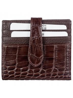 Кредитница с отделом для купюр кожа BOND 561-355 коричневый кроко
