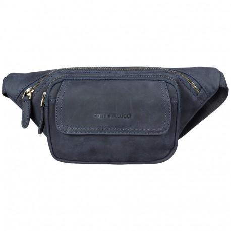 Поясная сумка кожа Tony Bellucci 5186-03 синий нубук