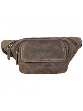Поясная сумка кожаная Tony Bellucci 5186-06 коричневый нубук