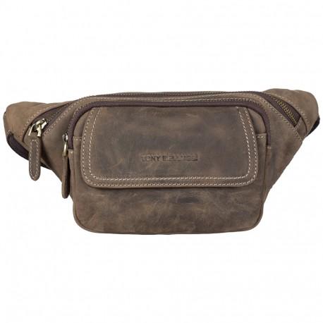 Поясная сумка кожа Tony Bellucci 5186-06 коричневый нубук