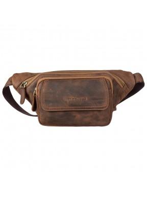 Поясная сумка кожаная Tony Bellucci 5186-07 рыжий нубук