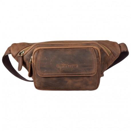 Поясная сумка кожа Tony Bellucci 5186-07 рыжий нубук