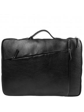 Портфель мягкий кожаный BOND 1419-281 черный флотар