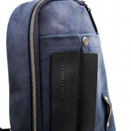 Сумка через плечо кожа Tony Bellucci 5176-03 синий нубук
