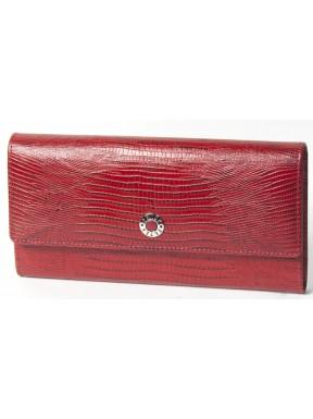 Кошелек женский кожа Petek 466-041-10 красный лазер